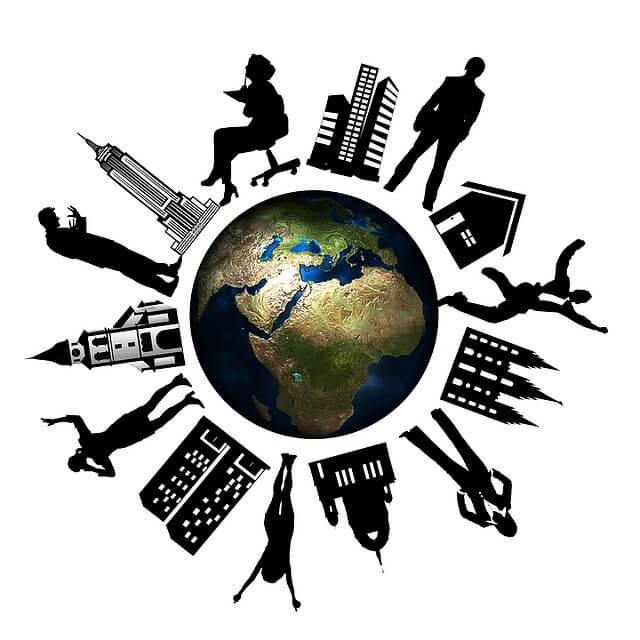 Договор аренды квартиры с описью имущества. Земной шар и люди с городами и вещами