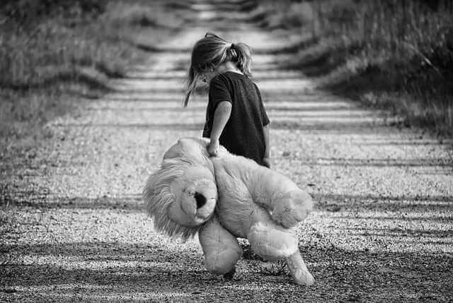 приватизация квартиры с несовершеннолетними детьми, ребенок по дороге тащит большого игрушечного медведя
