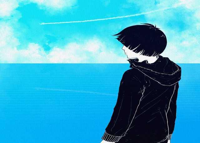 забрать заявление на алименты, подросток смотрит на море