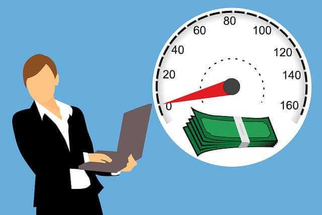 Ипотечные облигации,спидометр с деньгами и девушкой с компьютером