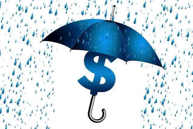 Купить залоговую квартиру Сбербанка, знак доллара поз зонтом и идет дождик, а под зонтом нет...
