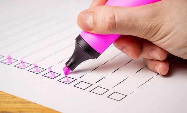 Анкета для получения ипотеки в Сбербанке, анкета с чек боксами нарисованными