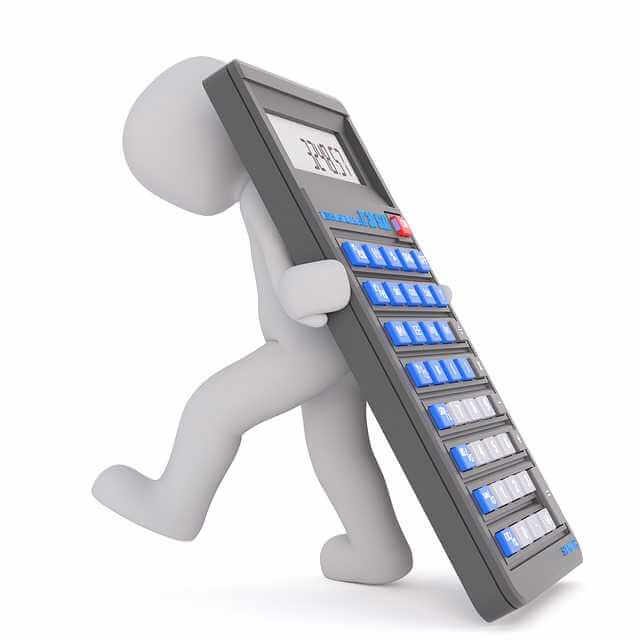 онлайн калькулятор ипотеки Сбербанка 2020 года, человечек несет калькулятор на спине