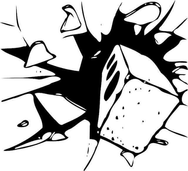 Материальная ответственность работника за причиненный ущерб, кирпич разбивает стекло